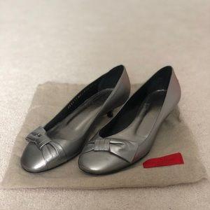 100% Authentic Valentino Garavani Silver Heels